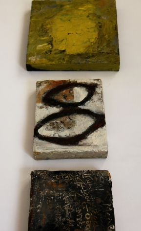 3) Three small canvases (part of installation) - Artspace 2015 -IMG_0097 M2
